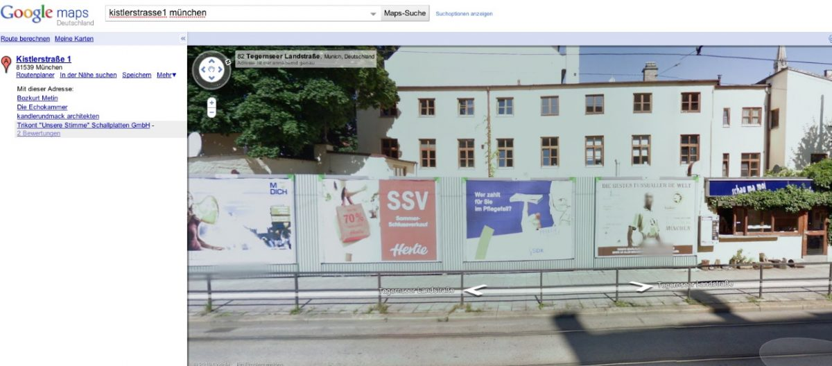 Google Street View Realität