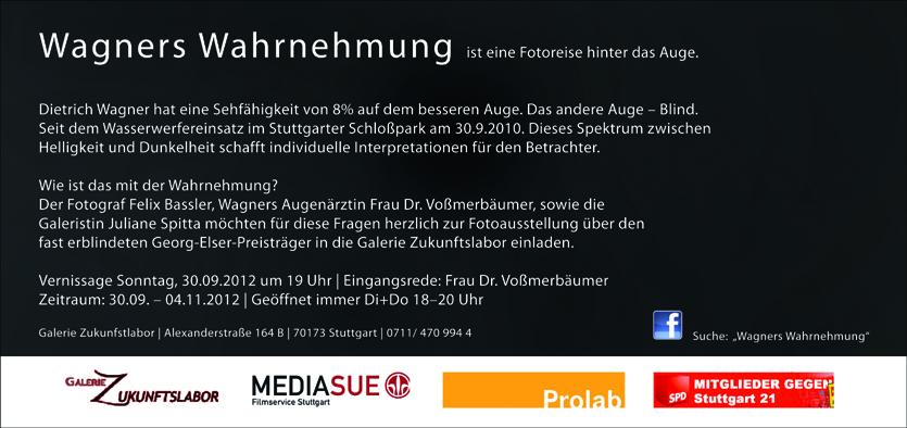Flyer zur Ausstellung Wagners-Wahrnehmung in Stuttgart