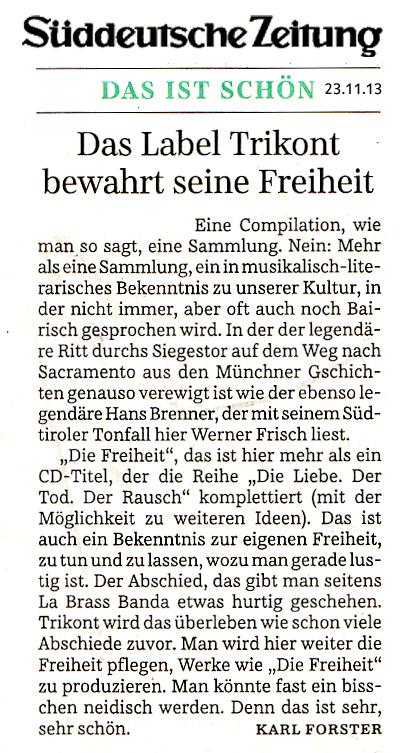 Stimmen Bayerns in der SZ